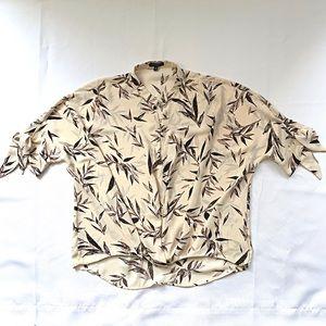 DYNAMITE leaf pattern blouse